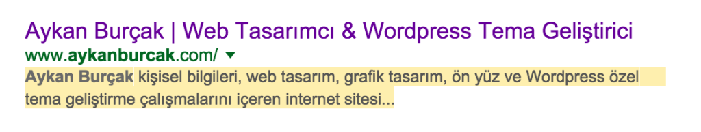Meta Description Örnek